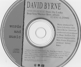 David Byrne – Words and Music – 1989